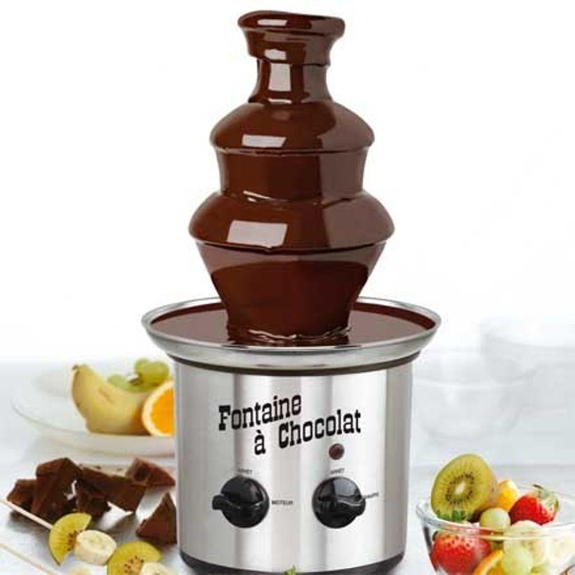 A la bonne heure -Illustration fontaine a chocolat
